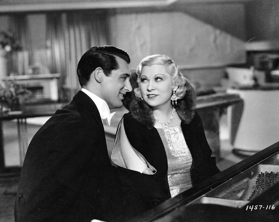 """<p>His first starring role in <em>She Done Him Wrong</em> solidified Grant's place as Hollywood's next leading man. He costarred with Mae West and the film was a monumental success. It helped Paramount avoid <a href=""""https://www.rottentomatoes.com/m/she_done_him_wrong"""" rel=""""nofollow noopener"""" target=""""_blank"""" data-ylk=""""slk:financial bankruptcy"""" class=""""link rapid-noclick-resp"""">financial bankruptcy</a> and was a major jumpstart to Grant's career.</p>"""