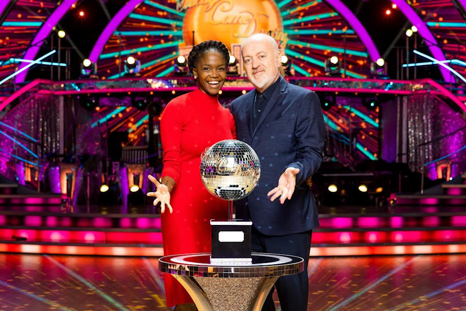 Strictly Come Dancing finalists Oti Mabuse and Bill Bailey