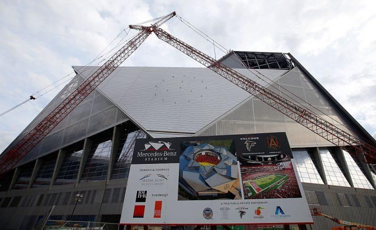 Mercedes-Benz Stadium in an earlier stage of development. (Getty)