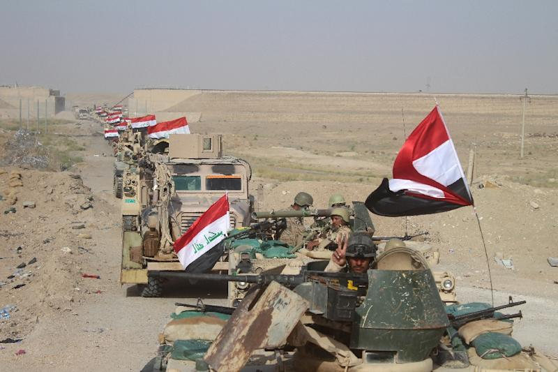 The Pentagon praised Iraqi forces after the western city of Fallujah from the Islamic State group on June 26, 2016 (AFP Photo/Moadh Al-Dulaimi)