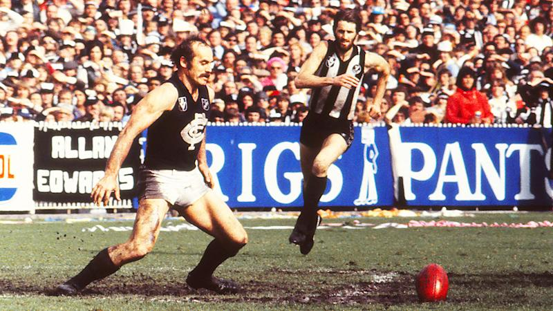 Alex Jesaulenko, pictured here in action during the 1979 VFL Grand Final between Carlton and Collingwood.