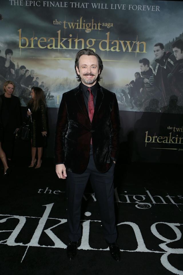 "Michael Sheen at The World Premiere of Summit Entertainment, a Lionsgate Company, ""The Twilight Saga: Breaking Dawn - Part 2"" at Nokia Theatre L.A. Live on November 12, 2012 in Los Angeles, California.  (Photo by Eric Charbonneau/WireImage)"