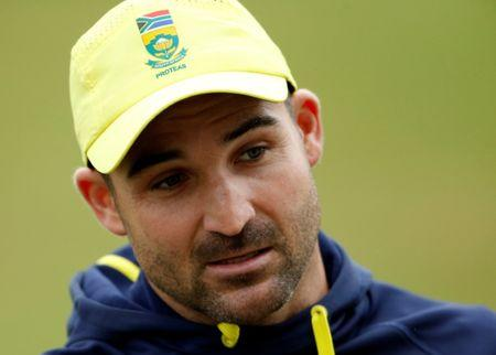 Cricket - South Africa Nets - Worcester, Britain - June 28, 2017   South Africa's Dean Elgar talks to the media   Action Images via Reuters/Andrew Boyers