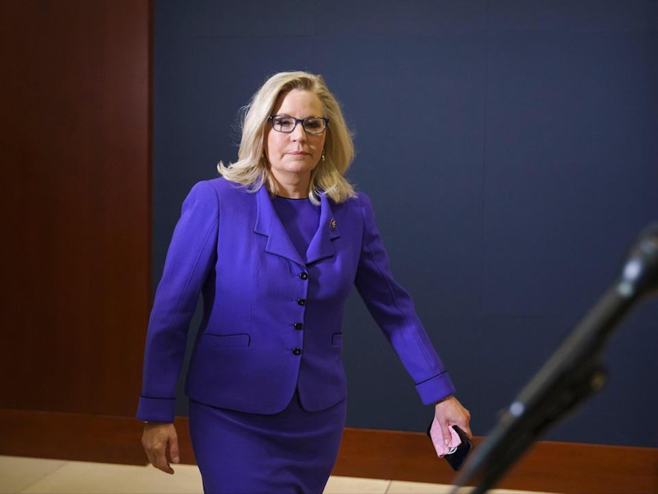<p>Representative Liz Cheney claims more lawmakers would've voted to impeach Donald Trump if they didn't fear for their lives</p> (AP)