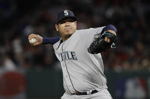 Felix Hernandez has been on the DL since late April with shoulder inflammation.(AP)