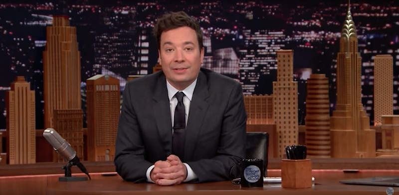 Jimmy Fallon seen paying tribute to his late mother Gloria who passed away on November 4th. Source: NBC
