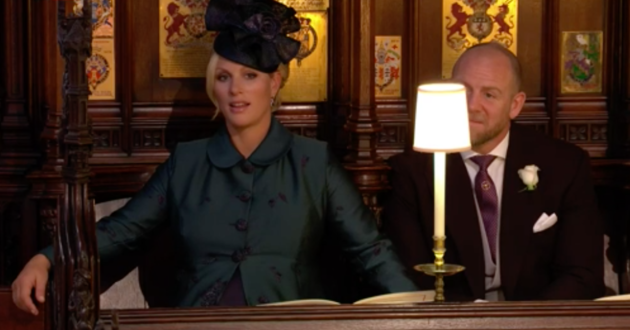 Zara Phillips looked somewhat perplexed at the service.