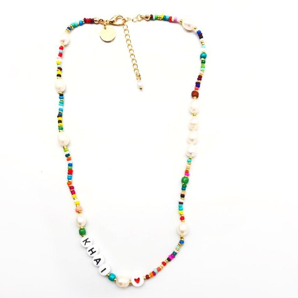<p>This <span>The Sis Kiss Custom Rainbow and Pearl Beaded Necklace</span> ($32) is so adorable and fun; it makes the perfect gift for yourself or your best friend. If you'd rather not get it personalized, you can also order it without the letters.</p>