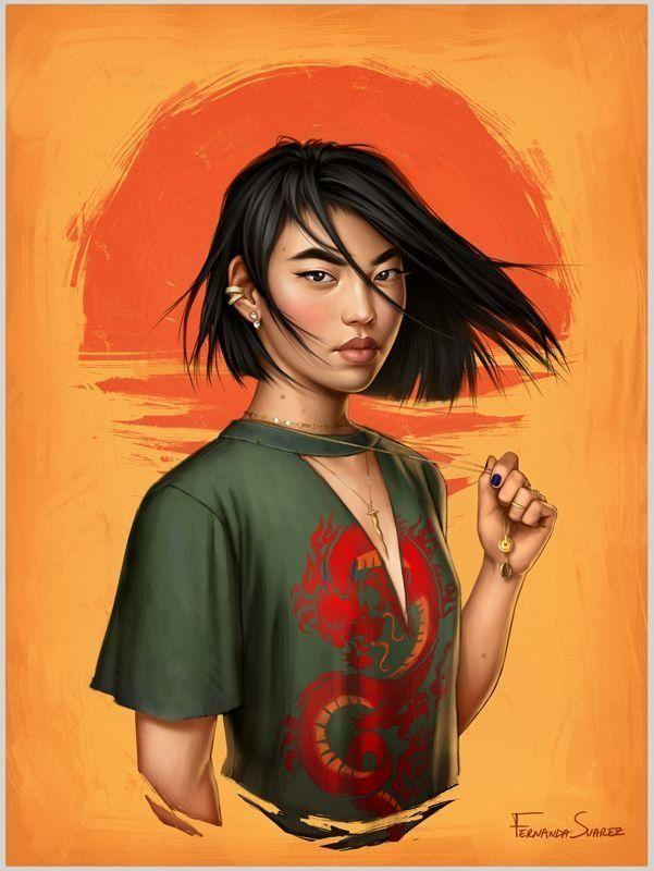Mulan is not afraid to accessorize.