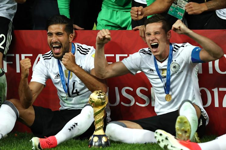 Celebrating a trophy has become commonplace for Germany in recent years. (Getty)
