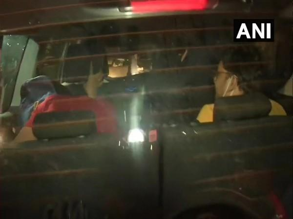 Siddharth Pithani and Neeraj Singh leaving from DRDO guest house after being questioned by CBI in connecting with Sushant Singh Rajput case. (Photo/ANI)