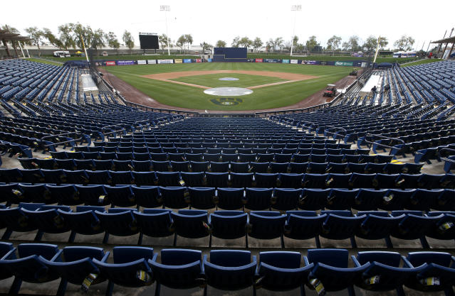 Could MLB return without fans? That's one idea. (Photo by Ralph Freso/Getty Images)