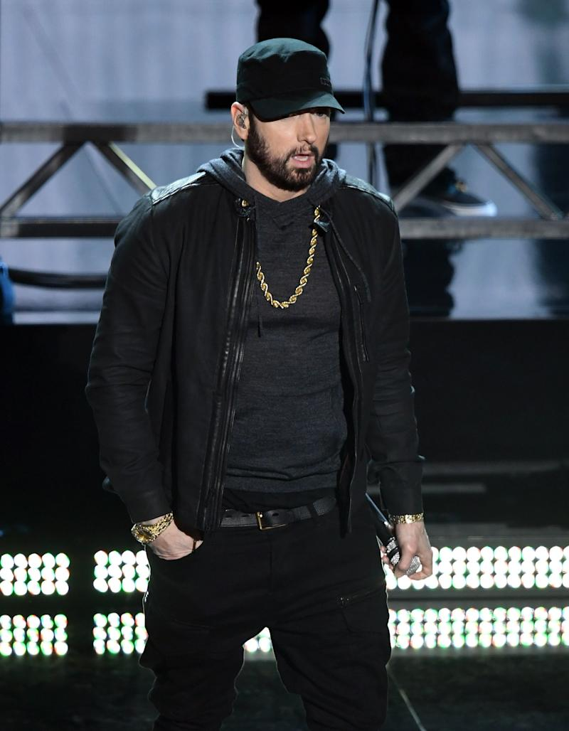 Eminem performs onstage during the 92nd Annual Academy Awards at Dolby Theatre on February 09, 2020 in Hollywood