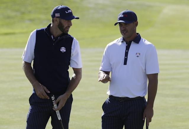 Brooks Koepka continues to deny spat with Dustin Johnson a day after Jim Furyk implies something happened