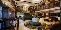 """<p>The <a href=""""https://go.redirectingat.com?id=74968X1596630&url=https%3A%2F%2Fwww.tripadvisor.com%2FHotel_Review-g37853-d88377-Reviews-Hotel_Julien_Dubuque-Dubuque_Iowa.html&sref=https%3A%2F%2Fwww.redbookmag.com%2Fabout%2Fg34149750%2Fmost-historic-hotels%2F"""" rel=""""nofollow noopener"""" target=""""_blank"""" data-ylk=""""slk:Hotel Julien"""" class=""""link rapid-noclick-resp"""">Hotel Julien</a>, a landmark hotel in Dubuque, dates back to 1839 when it was an inn known as the Waples House. Notable guests include Mark Twain, Buffalo Bill Cody, and even gangster Al Capone, who hid out here when things got too hot in <a href=""""https://www.bestproducts.com/fun-things-to-do/a1087/fun-chicago-things-to-do-places-to-visit/"""" rel=""""nofollow noopener"""" target=""""_blank"""" data-ylk=""""slk:Chicago"""" class=""""link rapid-noclick-resp"""">Chicago</a>. The hotel is fresh from a head-to-toe renovation. </p>"""
