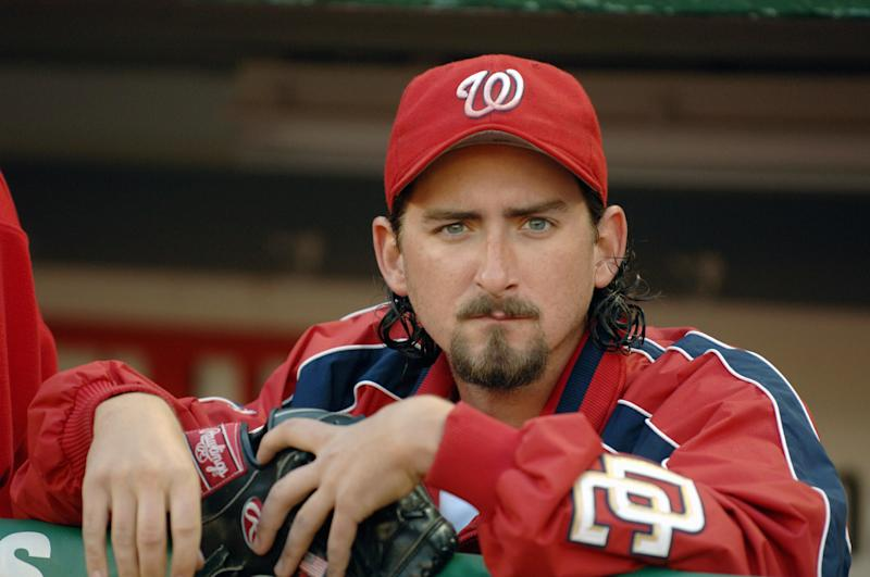 WASHINGTON - SEPTEMBER 8: Gary Majewski of the Washington Nationals before a game against the Florida Marlins on September 8, 2005 at RFK Stadium in Washington D.C. The Marlins defeated the Nationals 8-4. (Photo by Mitchell Layton/MLB Photos via Getty Images)