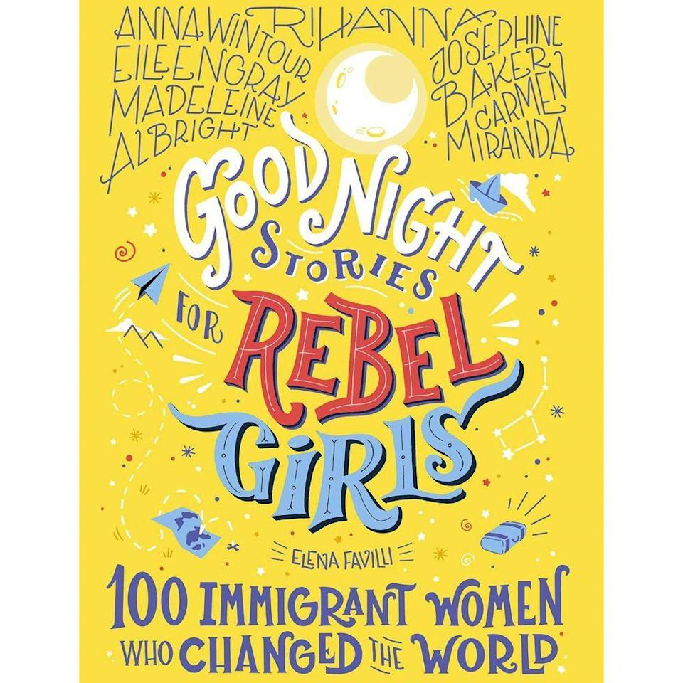"<p><strong>Rebel Girls</strong></p><p>amazon.com</p><p><strong>$35.00</strong></p><p><a href=""https://www.amazon.com/dp/1733329293?tag=syn-yahoo-20&ascsubtag=%5Bartid%7C10055.g.29417662%5Bsrc%7Cyahoo-us"" rel=""nofollow noopener"" target=""_blank"" data-ylk=""slk:Shop Now"" class=""link rapid-noclick-resp"">Shop Now</a></p><p>Let the short, bedtime-friendly stories of incredible women, everyone from Rihanna to Anne Hidalgo, inspire them to lead a life of change — no matter where their roots are tied. </p>"