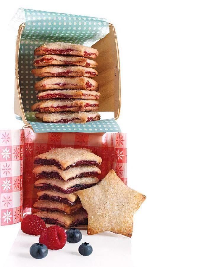 """<p>Filled with blueberry and raspberry jelly, these butter cookie sandwiches are the perfect balance of tart and sweet. </p><p><strong><em>Get the recipe for <a href=""""https://www.delish.com/cooking/recipe-ideas/recipes/a12248/red-white-blue-stars-recipe-mslo0610/"""" rel=""""nofollow noopener"""" target=""""_blank"""" data-ylk=""""slk:Berry Jam Stars"""" class=""""link rapid-noclick-resp"""">Berry Jam Stars</a>. </em></strong></p>"""