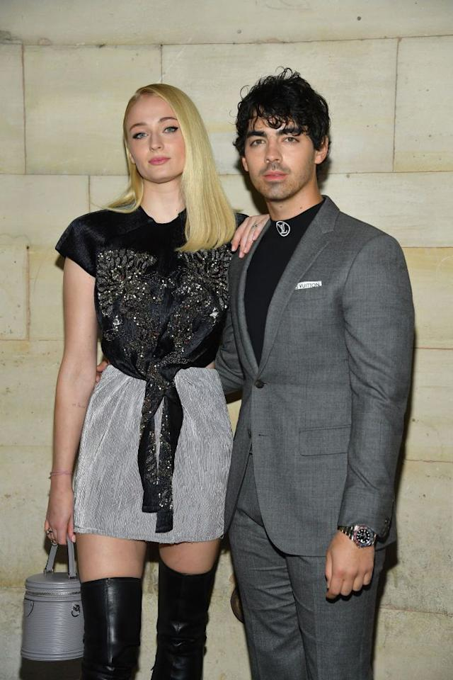 "<p><a rel=""nofollow"" href=""https://www.cosmopolitan.com/uk/entertainment/a13026049/sophie-turner-joe-jonas-enagaged-relationship-timeline/"">The couple have been together since November, 2016</a> and <a rel=""nofollow"" href=""https://www.cosmopolitan.com/uk/entertainment/a13024179/joe-jonas-sophie-turner-engaged/"">got engaged almost a year later</a> in October 2017. </p><p>Sophie and Joe are often photographed looking very adorable and loved up whether they're out walking their shared puppy Porky Basquiat, <a rel=""nofollow"" href=""https://www.harpersbazaar.com/uk/christmas/a25690177/priyanka-chopra-sophie-turner-nick-jonas-christmas-instagram/"">spending Christmas together in England</a> or attending Joe's brother Nick's <strong>wedding of the year </strong> <a rel=""nofollow"" href=""https://www.cosmopolitan.com/uk/fashion/a25406996/priyanka-chopra-wedding-veil-meghan-markle/"">to Priyanka Chopra in India.</a> </p><p>Refreshingly, though, Sophie has said her loving relationship isn't the only thing to fulfil or complete her. She <a rel=""nofollow"" href=""https://www.marieclaire.com/celebrity/a19722071/fresh-faces-2018/"">told </a><em><a rel=""nofollow"" href=""https://www.marieclaire.com/celebrity/a19722071/fresh-faces-2018/"">Marie Claire</a> </em>last year: ""There's this weird misconception that being married is the greatest thing that'll ever happen to you. But I've always found that my career is something I work for, and when I achieve something, there's a sense that this is the greatest thing I'll do in my life. It's lovely to be engaged. Not like I achieved anything, but I found my person, like I'd find a house that I love and want to stay in forever. There's a sense of peace that comes with finding your person. But there's a drive that comes with your career.""</p>"