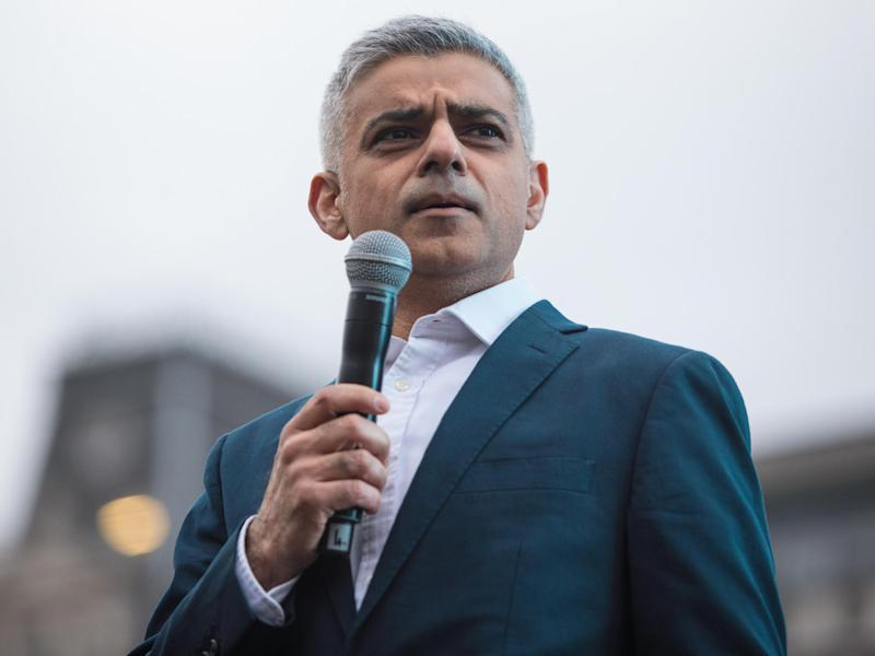 Sadiq Khan used his interview with CNN to focus on the ways in which London had responded to the attack: Getty