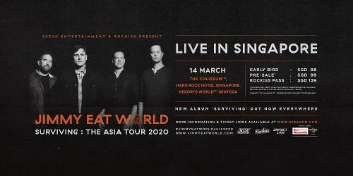 The details of their Singapore concert which will be held this March.
