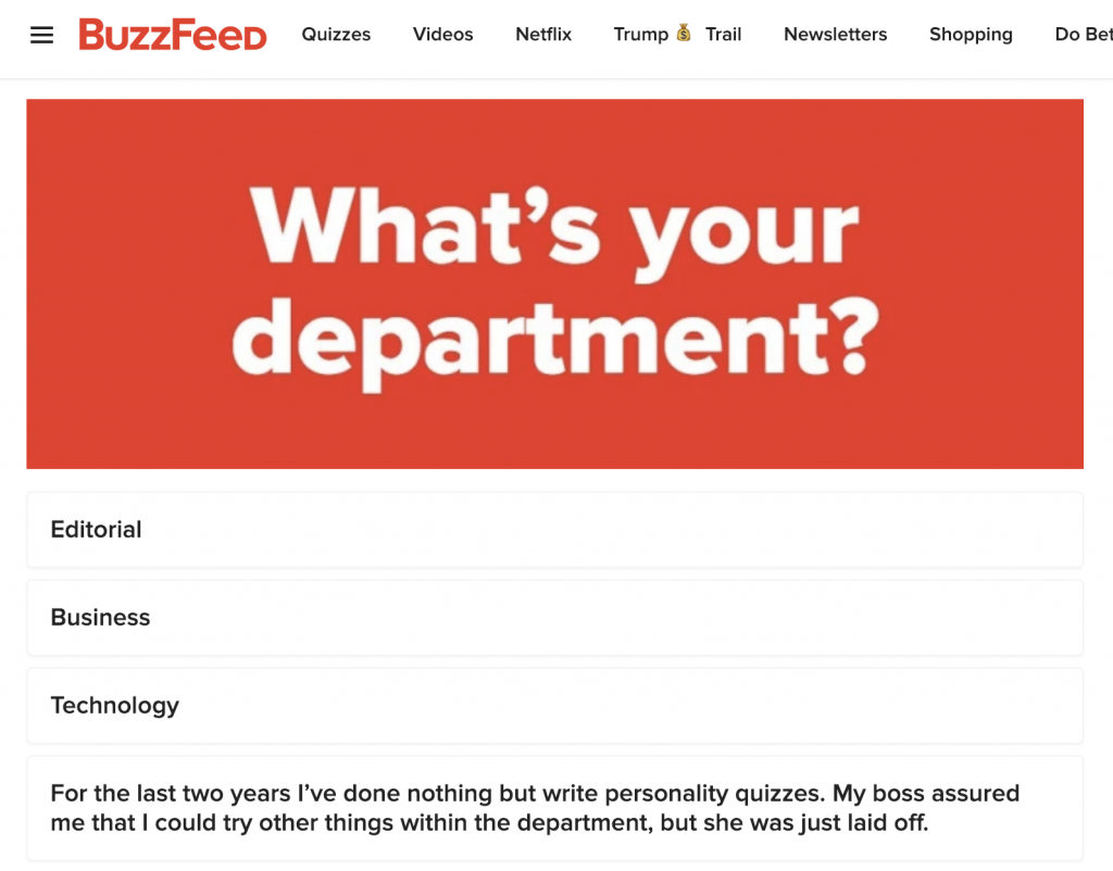 BuzzFeed Contributor Posts 'Do You Still Have a Job at