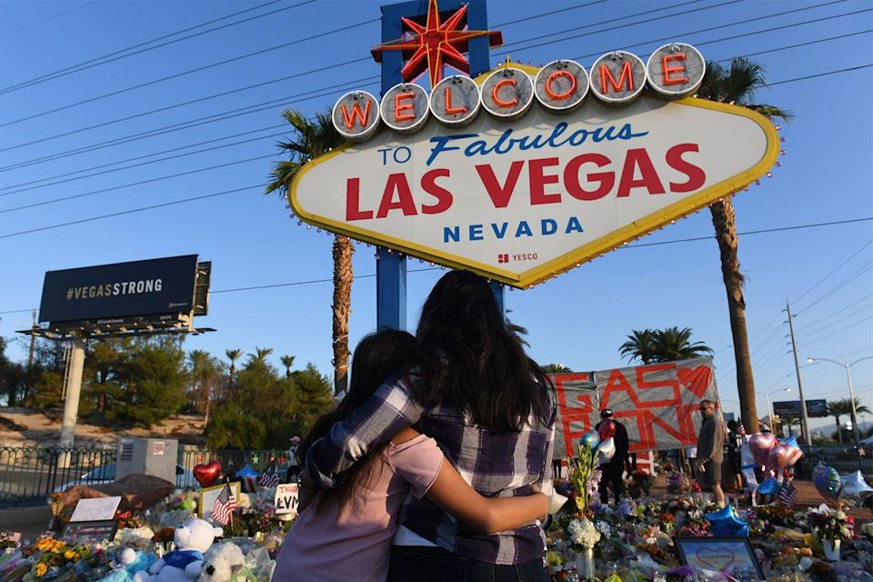 <p>Mourners turned out in droves to pay tribute to the lives lost during the Las Vegas shooting, which took place at the Mandalay Bay hotel during the Route 91 Harvest music festival. Fifty-eight people died and 546 people were injured.</p>