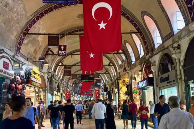 Grand Bazaar in Istanbul Turkey