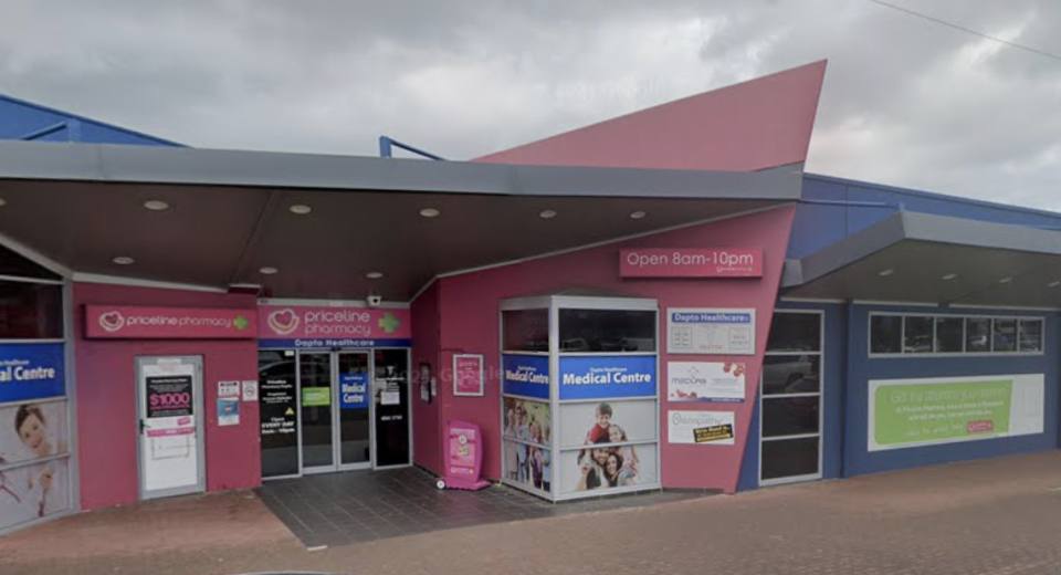 A street view of a Priceline Pharmacy in Dapto.