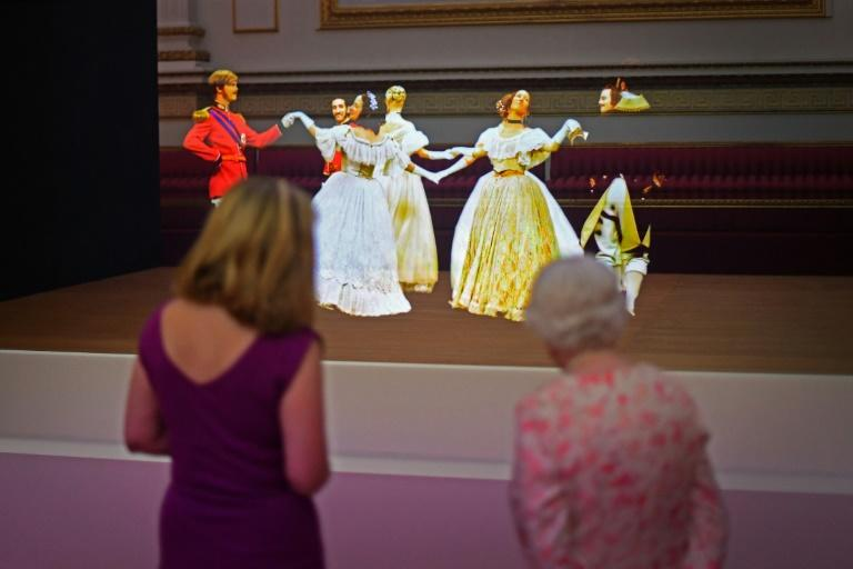 The Victorian illusion technique known as Pepper's Ghost was used to recreate a waltz danced at the Crimean Ball of 1856 in the Ballroom of Buckingham Palace