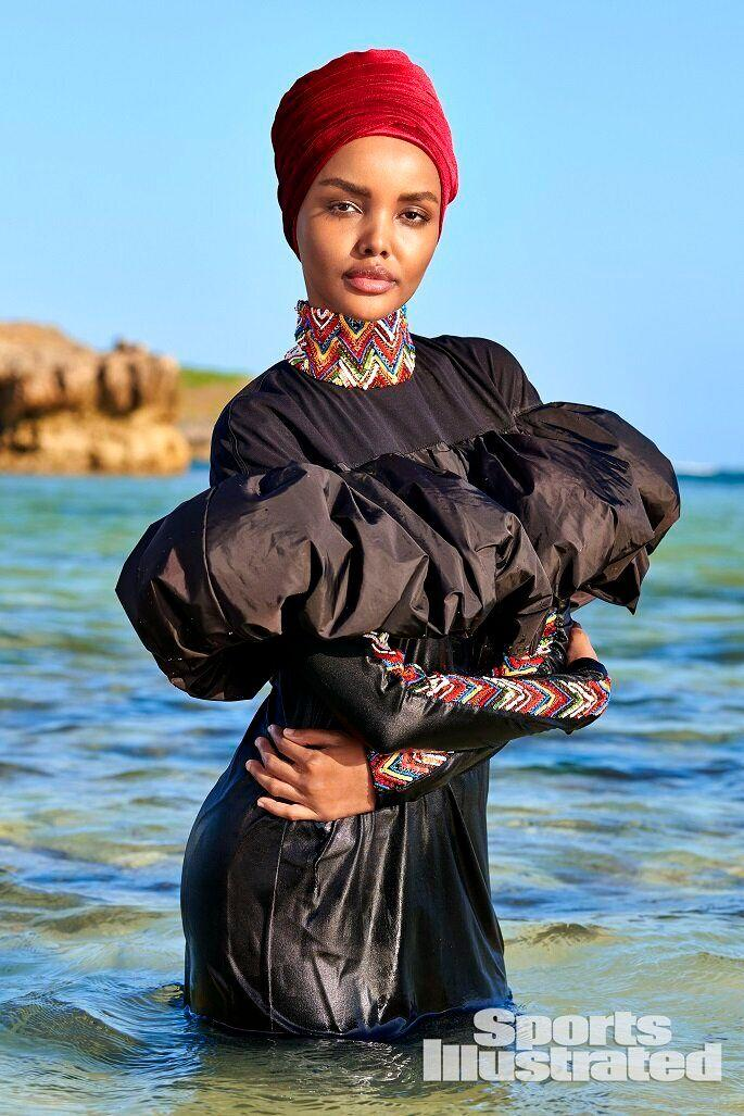 Halima Aden is the first model to ever appear in the iconic magazine issue wearing a hijab. (Photo: Yu Tsai )