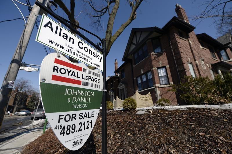 A home for sale is seen in Toronto