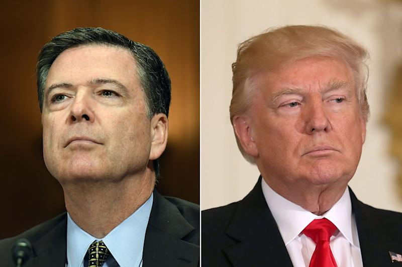 Trump goes on Twitter rant against Comey ahead of explosive interview