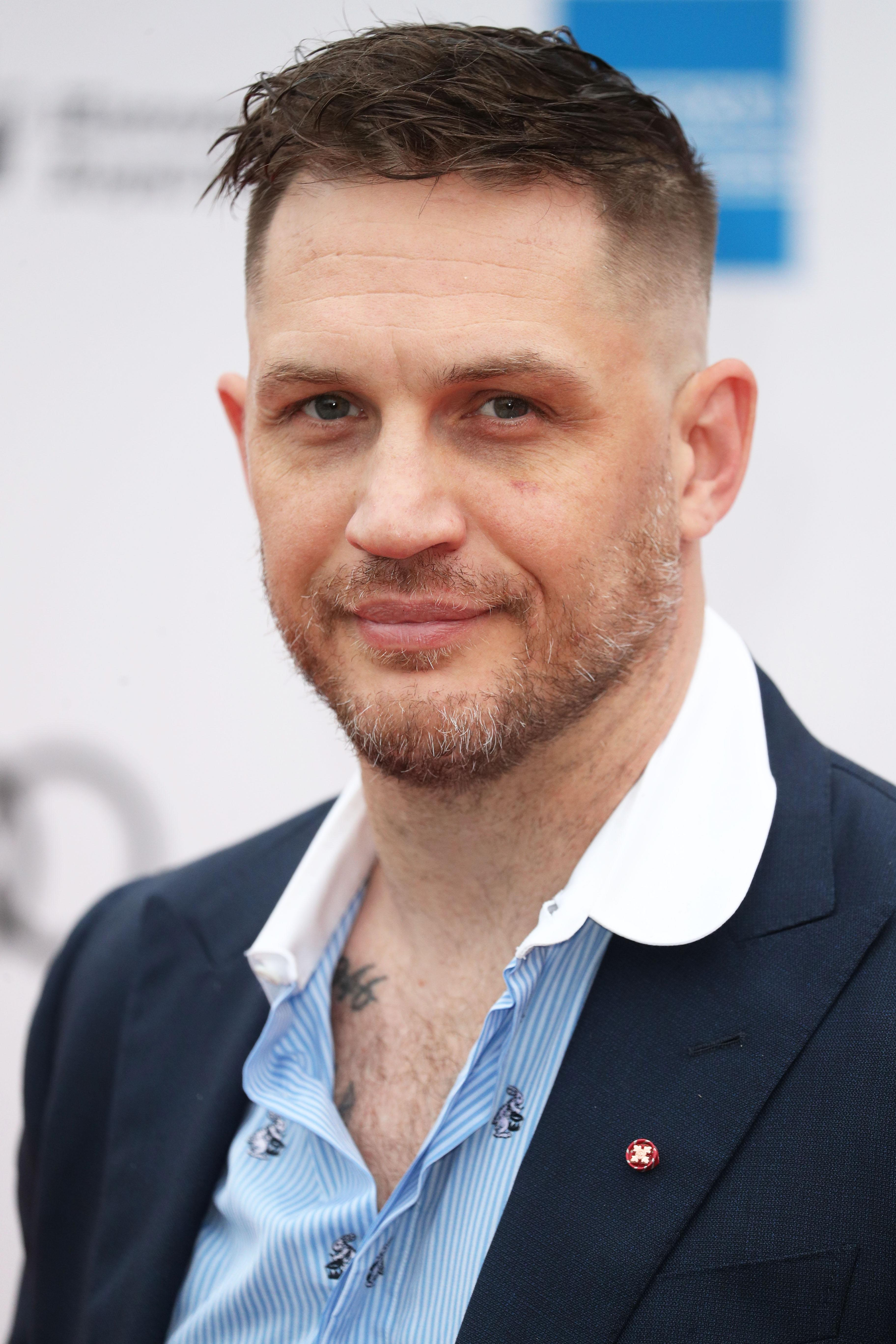 Tom Hardy arrives for a concert hosted by Sentebale in Hampton Court Palace in East Molesey, to raise awareness and vital funds for the Duke of Sussex's charity, Sentebale, which helps young people in southern Africa affected by HIV.