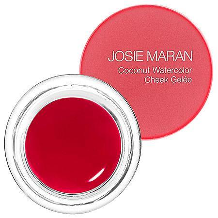 "<p>For a healthy, just-worked-out flush, added argan oil and coconut water provide a dewy effect. <a href=""http://www.josiemarancosmetics.com/coconut-watercolor-cheek-gelee.html#.Vm8YbmSDFBc"" rel=""nofollow noopener"" target=""_blank"" data-ylk=""slk:Josie Maran Coconut Watercolor Cheek Gelee"" class=""link rapid-noclick-resp"">Josie Maran Coconut Watercolor Cheek Gelee</a> ($22)</p>"