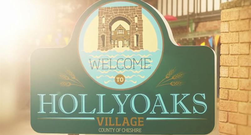 Hollyoaks village sign (C4)