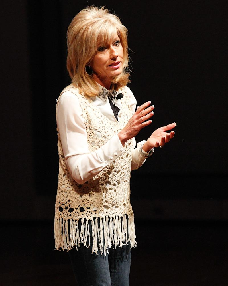 Evangelist and author Beth Moore speaks at a luncheon for nominees of the Dove Awards, a Christian music industry honor, on Oct. 6, 2014, in Nashville. (Photo: Terry Wyatt via Getty Images)