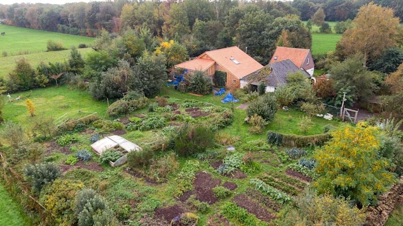 Farm in the Netherlands where family were found after living in isolation for years.