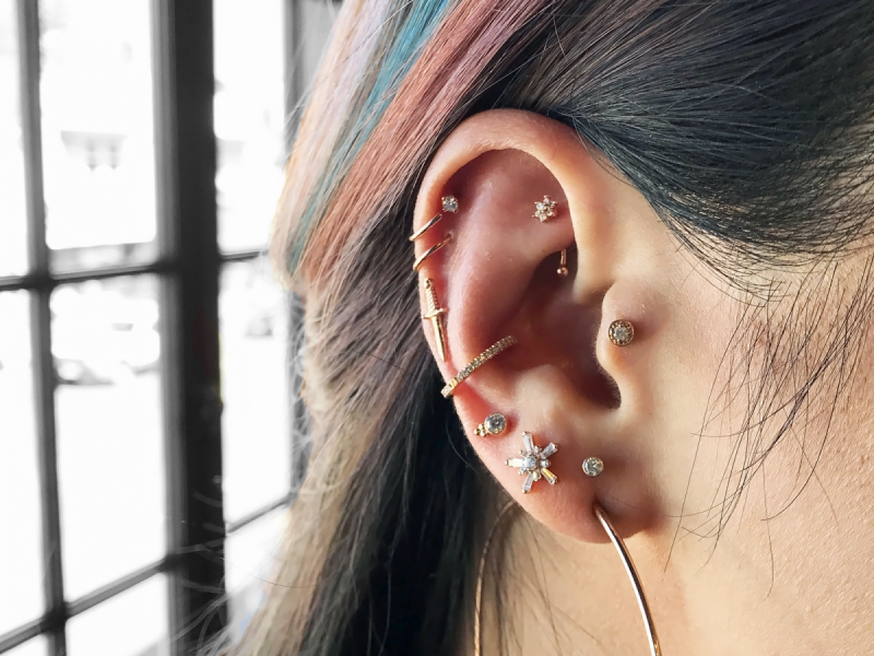 The Raddest Multiple Ear Piercing Combinations To Copy Now