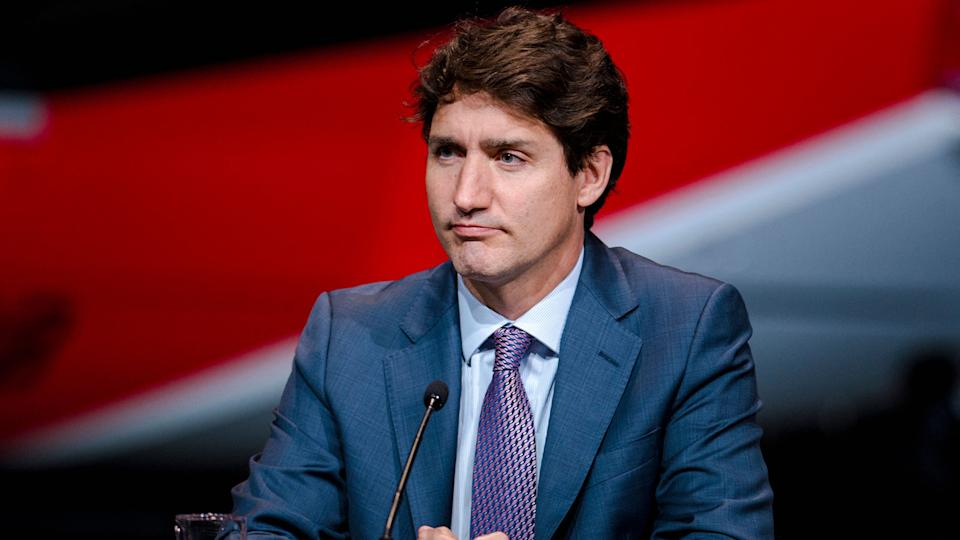 Canadian Prime Minister Justin Trudeau is disappointed in his favourite team. (Photo by ANDREJ IVANOV/AFP via Getty Images)