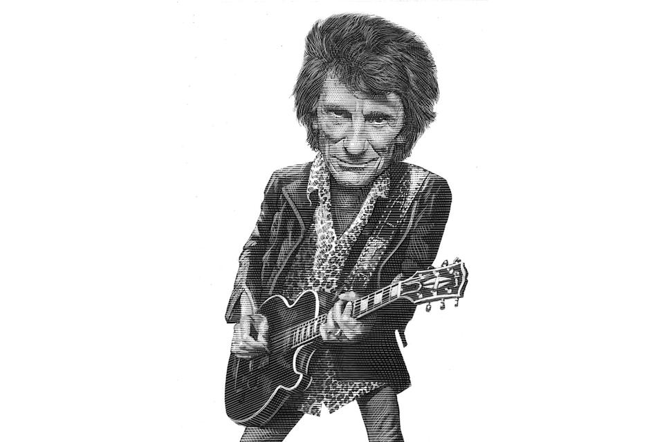 Ron-Wood-last-word - Credit: Illustration by Mark Summers for Rolling Stone
