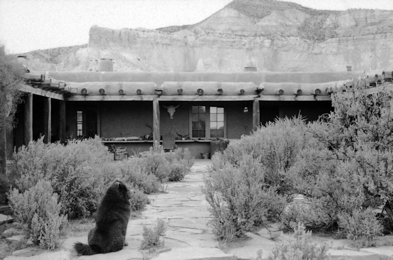 Ghost Ranch, the home of American artist Georgia O'Keeffe, Abiquiu, New Mexico, 1966.