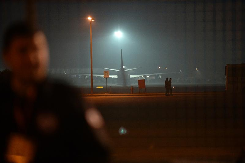 A Kurdish group calling itself the Freedom Falcons of Kurdistan (TAK) claimed an explosion near a plane at Istanbul's Sabiha Gokcen airport on December 23 (AFP Photo/Bulent Kilic)