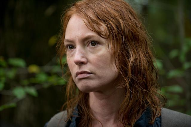 <p>In a fantastic performance by guest star Alicia Witt, Paula introduced herself as someone who had done terrible things to endure in the apocalypse, and even more terrible things to become a valued, high-ranking member of Negan's Saviors crew. Her story was all the more tragic because, like Carol, Michonne, Maggie, and other female survivors, Paula had suffered terrible family deaths and came out all the stronger for it. But she also came out more hardened, less empathetic, and ultimately, too detached from her fellow humans to continue living.<br>(Photo: AMC) </p>