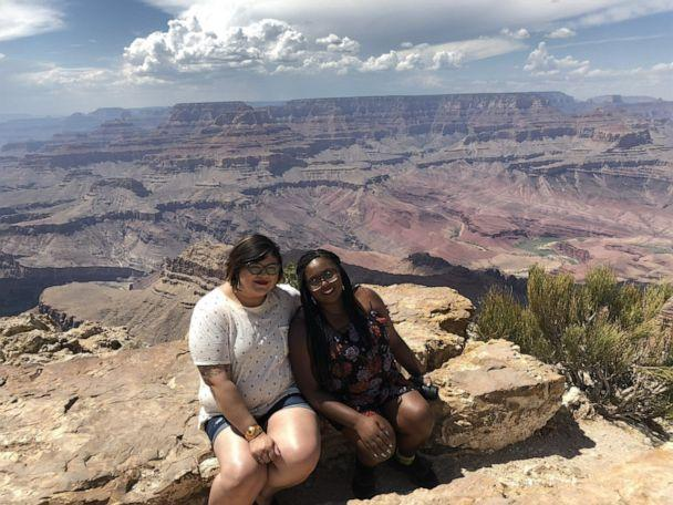 PHOTO: Rana Zoe Mungin, a 30-year-old teacher from Brooklyn, New York, is pictured with Nohemi Maciel during a trip to the Grand Canyon in Arizona in 2018. (Courtesy Nohemi Maciel)