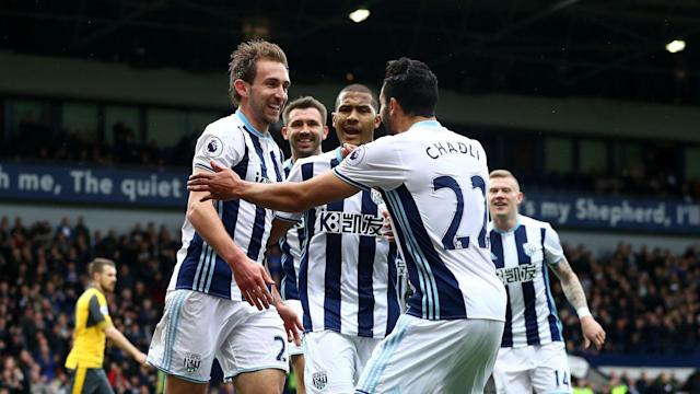 Craig Dawson headed a goal in each half either side of Hal Robson-Kanu's strike as West Brom ensured Arsenal's dismal form went on.