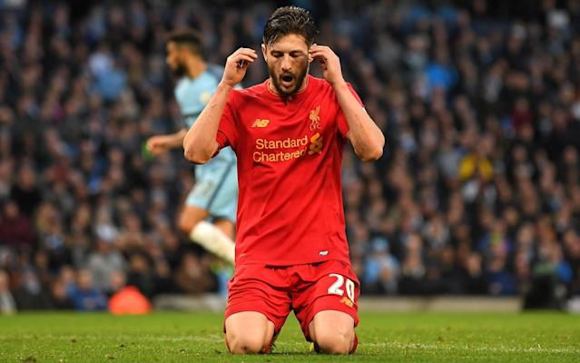 <span>Lallana apologised to his team-mates for the glaring miss</span> <span>Credit: getty images </span>