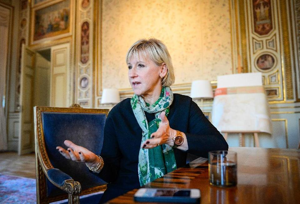 "Stockholm's relations with Riyadh have nosedived since leftist Foreign Minister Margot Wallstroem, pictured, told parliament in a February speech the oil-rich state was a ""dictatorship"" that violated women's rights and whipped bloggers (AFP Photo/Jonathan Nackstrand)"