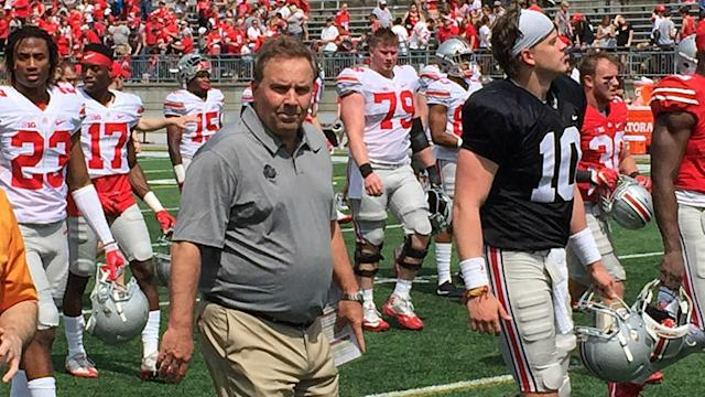 Ohio State showed off a new passing attack with offensive coordinator Kevin Wilson, and the early results are good.