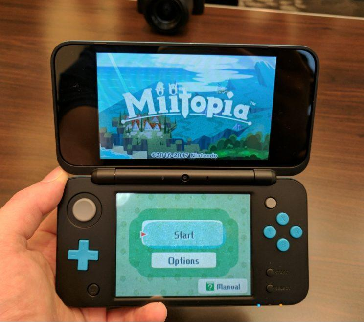 The New Nintendo 2DS XL.